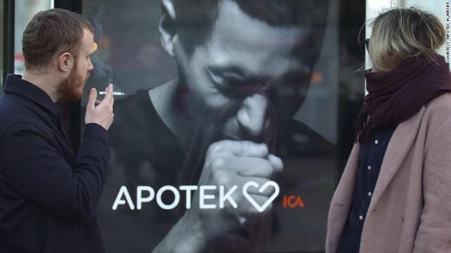 Apotek Hjärtat campagna non fumare