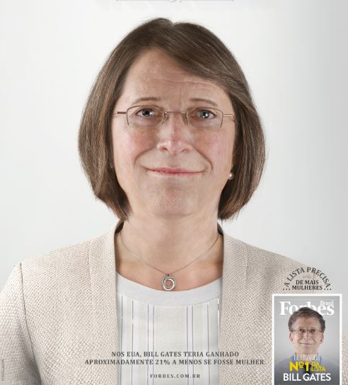 Bill Gates in versione femminile Billie Gates