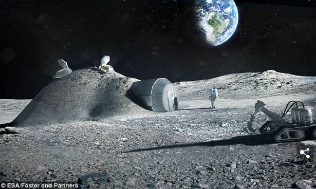 Esa e Cina Villaggio lunare