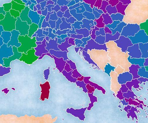 Mappa fertilità Europa