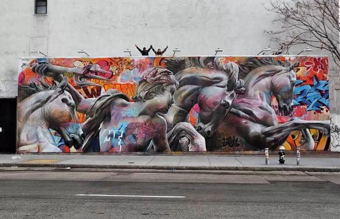 Bowery Graffiti Wall Pichi & Avo