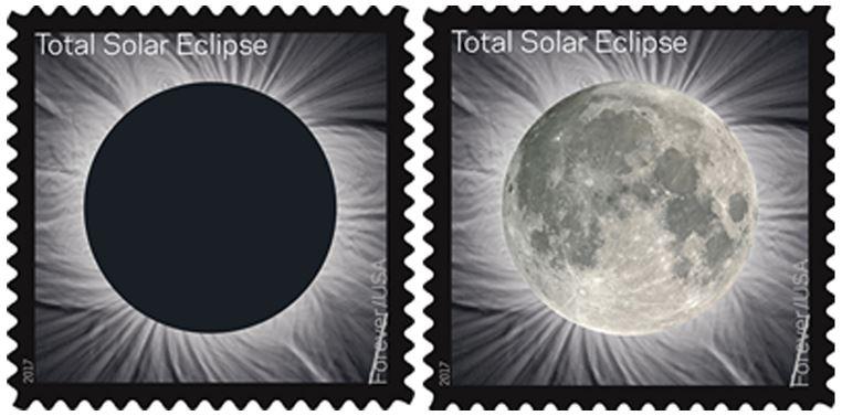 Francobolli Eclissi solare totale 2017 Stati Uniti