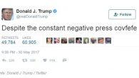 """Il Presidente Donald Trump ha creato la misteriosa parola """"covfefe"""", un imprenditore svedese ora possiede uno dei termini più twittati sul social media. Per Holknekt, cinquantasettenne stilista e imprenditore, intervistato da AFP, ha detto: «Ho acquisito i diritti commerciali esclusivi per il termine """"covfefe"""" in tutta Europa. E' la parola […]"""