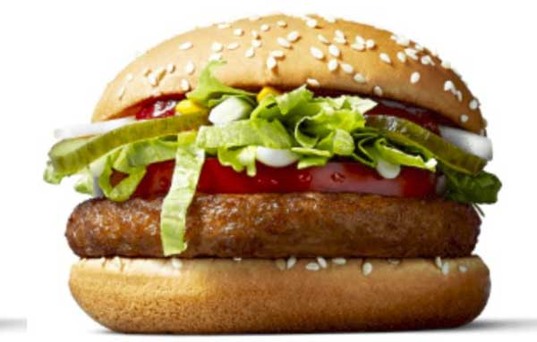 McVegan hamburger vegano