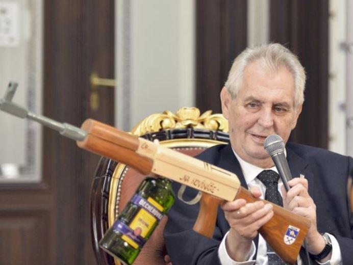 Milos Zeman AK-47 Kalashnikov