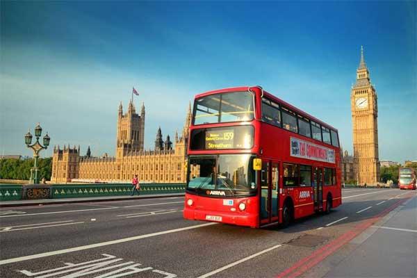 Autobus rossi a due piani Londra