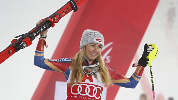 Mikaela Shiffrin sciatrice