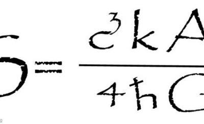 Formula sulla lapide di Stephen Hawking