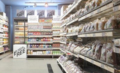 Reparto supermercato olandese senza plastica