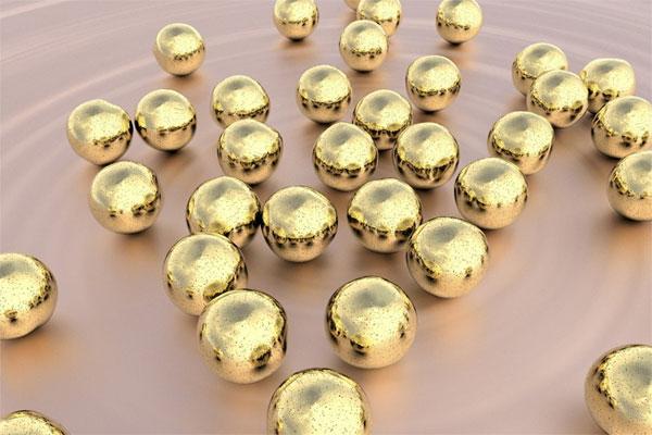 Nanoparticelle d'oro prodotte con gocce d'acqua