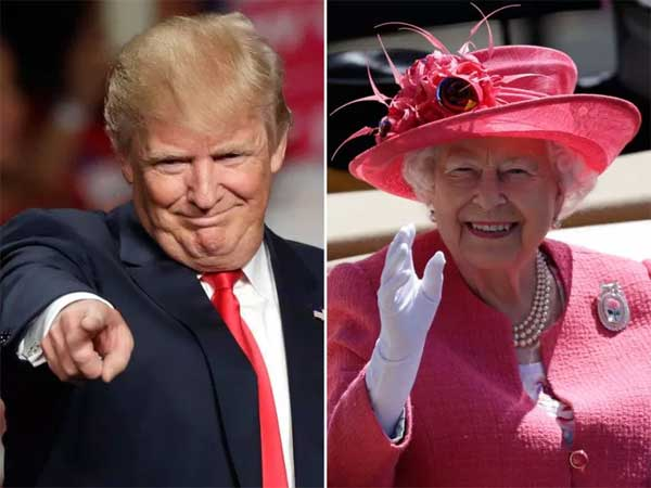 Trump e la Regina Elisabetta