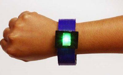 Braccialetto con batteria agli ioni di litio stampato in 3D