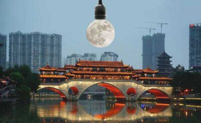 Luna artificiale cinese per illuminare la città di Chengdu