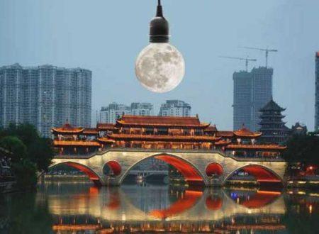 La Cina entro il 2020 prevede di lanciare una luna artificiale abbastanza luminosa da sostituire i lampioni della città di Chengdu