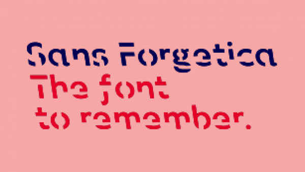 Nuovo font Sans Forgetica