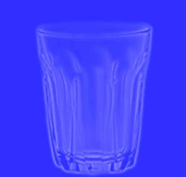 bicchiere luce polarizzata