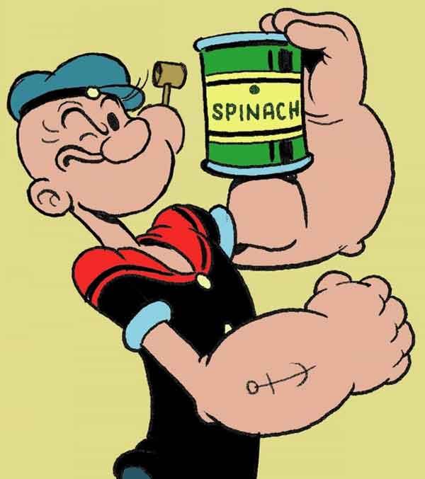 Braccio di Ferro spinaci