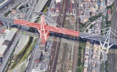 Ponte Morandi deformazione