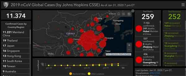 mappa interattiva coronavirus