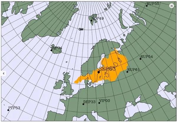 Picco radiazioni Nord Europa