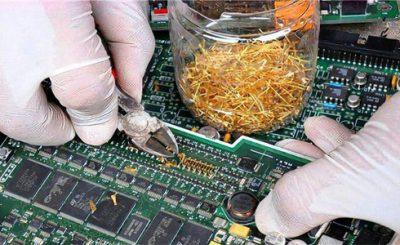 Recupero oro schede circuito stampato