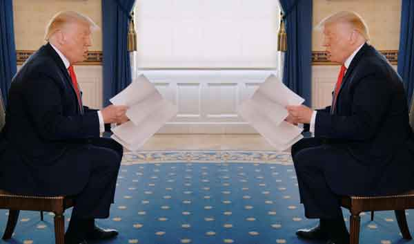 Trump intervista Trump