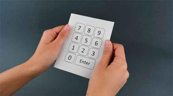 Tastiera di carta